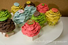 Key Ingredients + Kelleigh Blog Hops » Creativity in progress paper cupcakes
