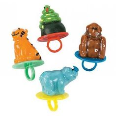 These Zoo animal ring pops are too cute. Perfect for a circus birthday party! Found in Kara's Party Ideas Shop- www.karaspartyideas.com/shop
