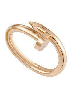 cartier - juste un clou, gold nail bracelet
