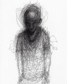 Little Crayon Drawing Book Ib Elegant Adam Riches Pen Drawing Drawings In 2019 Creepy Drawings, Dark Art Drawings, Creepy Art, Pencil Art Drawings, Art Drawings Sketches, Cool Drawings, Drawing With Pencil, Ballpoint Pen Drawing, Sketch Art