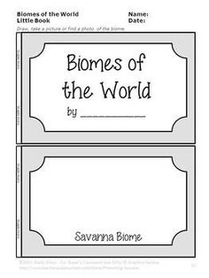 Biomes Activities, Science Distance Learning Packet