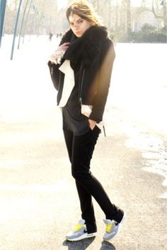 7691820a0a06 Black-eleven-paris-coat-black-zara-sweater-ivory-h-m-trend-blazer with nike  running shoes