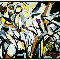 Jackson Pollock b. The Springs, New York Jackson + lee krasner's holiday card 1950 Paul Jackson Pollock. Action Painting, Jackson Pollock, Lee Krasner, Seattle Art Museum, Joan Mitchell, Famous Art, Helen Frankenthaler, American Artists, Great Artists