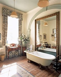English Country Bathroom Decor To Give You Relax Spa Salon Interior Design, Home Interior, Bathroom Interior, Interior Plants, Interior Colors, Interior Office, Modern Interior, Country Style Homes, Cottage Style