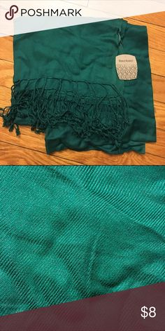 Teal Scarf NWT, tassels on both ends World Market Accessories Scarves & Wraps