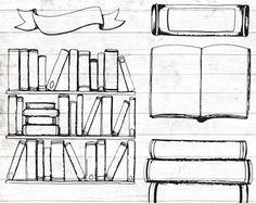 Resultado de imagem para doodle de estante de livros