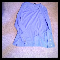 Lavender long sleeve top Cute soft long sleeve top with anchor in lower right corner and buttons on right shoulder and arms. Brand new condition Nautica Tops