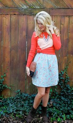 Summer dress in the fall - transition