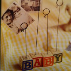 Baby block photo holder as seen in Simply Handmade: 365 Easy Projects for Every Occasion.