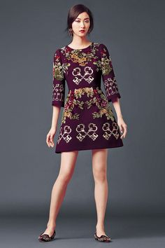 Fall Forward! Designer Dress Dolce & Gabbana Woman's Apparel - Collection Fall Winter 2014 2015