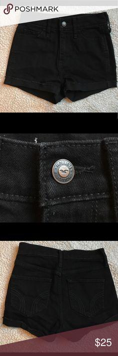 Black High Rise Hollister Short Black High Rise Hollister Short. Hollister Shorts Jean Shorts