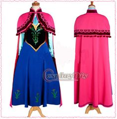 Free Shipping Customized Princess Anna Dress in Movie Frozen Cosplay Costume-in Costumes Accessories from Apparel Accessories on Aliexpr...