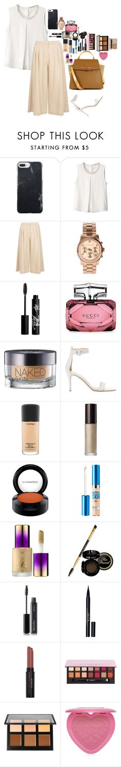 """""""Untitled #3476"""" by veronicaptr ❤ liked on Polyvore featuring Aula Aila, Dorothy Perkins, Michael Kors, Rouge Bunny Rouge, Gucci, Urban Decay, Gianvito Rossi, MAC Cosmetics, Becca and Maybelline"""