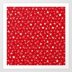 white star on red-clock