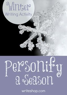 How is winter like a person? Invite kids to explore personification (and make a placemat) with this fun winter writing activity for children!