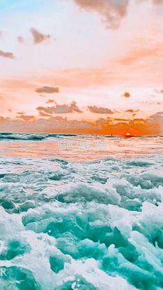 Pastell Wallpaper, Ocean Wallpaper, Summer Wallpaper, Iphone Background Wallpaper, Wallpaper For Iphone, Aesthetic Pastel Wallpaper, Aesthetic Backgrounds, Aesthetic Wallpapers, Photo Wall Collage