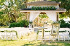 Outdoor Ceremony Inspiration // An Elegant Sarasota Garden Wedding via TheELD.com