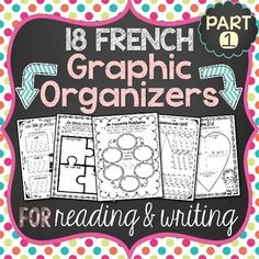 This file includes a variety of French graphic organizers (des organigrammes/organisateurs graphiques) for students to use to help them better organize their thoughts and ideas. Study French, Core French, Learn French, French Teaching Resources, Teaching French, Teaching Spanish, Teaching Ideas, Graphic Organizer For Reading, Graphic Organizers