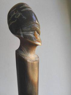 Vintage Nefertiti bone handle Horse Whip Egypt by OblitusThesauros