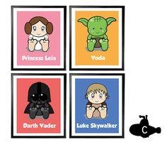 Star Wars Nursery 8x10 Print Set  Star Wars by CaptainsBabyShop, $40.00