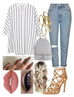 """""""Untitled #1181"""" by britishmuffin ❤ liked on Polyvore featuring Topshop, MANGO, MICHAEL Michael Kors, Kendra Scott, Dorothy Perkins and Lime Crime"""