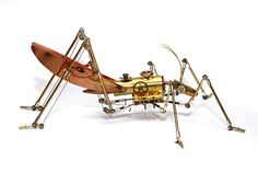 The Arthrobots gallery, view all examples of steampunk insect sculptures by Tom Hardwidge. Steam Punk Jewelry, Metal Jewelry, Steampunk Animals, Bug Art, Insect Art, Art Model, Wire Art, Steampunk Fashion, Art Google