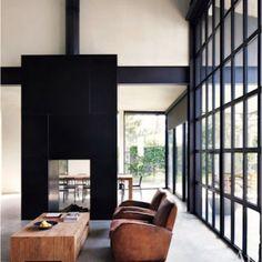 Minimalist Home/Studio by Tom Kundig // Architectural Digest I want the windows Interior Design Minimalist, Minimalist Home, Minimalist Window, Minimalist Photos, Minimalist Bedroom, Deco Design, Design Case, Design Design, Architectural Digest