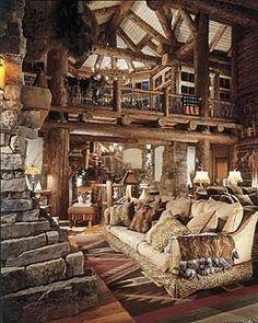Huge rustic cabin home