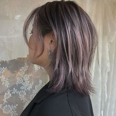 Cute Hairstyles For Short Hair, Short Hair Cuts, Short Hair Styles, Mullet Hairstyle, Hair Streaks, Hair Color And Cut, Hair Reference, New Haircuts, Aesthetic Hair