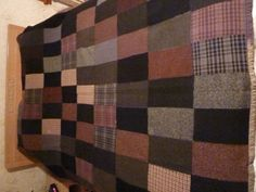 Vintage Wool Patchwork Quilt