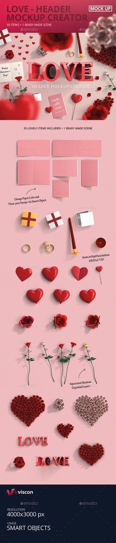 Love Header Mock-Up Creator   Download: http://graphicriver.net/item/love-header-mockup-creator/10194370?ref=ksioks