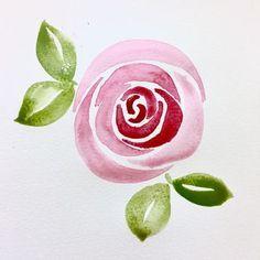 Afbeeldingsresultaat voor watercolor rose