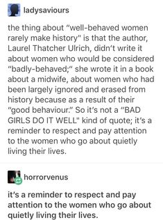 "Yes! The way it's been appropriated as a ""bad girls do it better"" sentiment makes me a litte sick. It's a subtly and eloquent reminder that ""women's work"" is not the history we remember."
