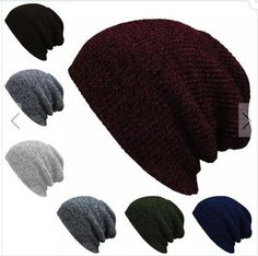 Knit Men s Baggy Beanie Oversize Winter Warm Hats Ski Slouchy Chic Crochet  Knitted Cap for women girl s hat thick female cap 589aac70603