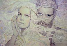 Of Aule and Yavanna by kimberly80.deviantart.com on @deviantART #Valar #Valinor