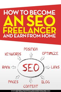 One of the easiest ways to earn money from home is to become an SEO freelancer.