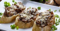 Bruschetta Recept, Cheesesteak, Mozzarella, Ethnic Recipes, Food, Essen, Meals, Yemek, Eten