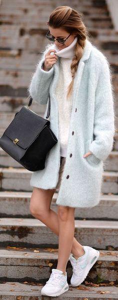 Mint Fluffy Coat