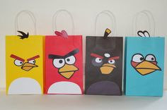 Angry Birds Party Favors- Awesome Angry Birds Party ideas - Angry Birds Favor/ Goodie Bags