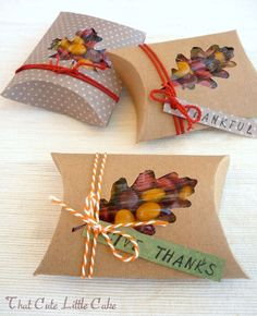 Decorate for Less With These Free Thanksgiving Table Decorations: Thanksgiving Favor Boxes From Catch My Party