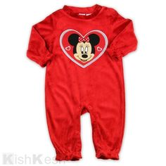 e234c35f43 Ariel Footless Stretchie Sleeper for Baby. See More. Minnie Mouse girls  velour red sleeper.  Disney  Newborns  BabyClothing
