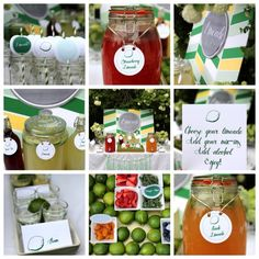 limeade bar party station: peach, strawberry and mint limeade plus mix-ins!