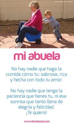 TE QUIERO ABUELA 15 de mayo: Día Internacional de la Familia www.dondeesta.com