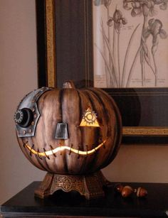 Fantastic Steampunk Pumpkin/Jack-O-Lantern - Steampumpkin! Creativity | #MichaelLouis - www.MichaelLouis.com
