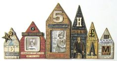 With Tim Holtz Sizzix Die.  I love Collections Elements!