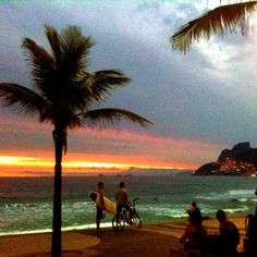 Sunset in a rainy day in Rio de Janeiro - @chmarra- #webstagram