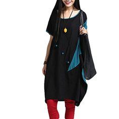 Minibee Fashion T-shirt Dress Patchwork Unique Element Dolman Sleeve Blouse Black Minibee http://www.amazon.com/dp/B0109PX2CI/ref=cm_sw_r_pi_dp_1BoJvb1NEM9AP