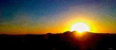 Look east from Las Vegas. Sunrise.