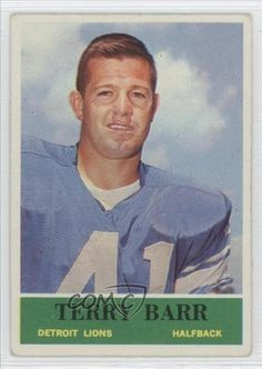 Terry Barr COMC REVIEWED Good to VG-EX Detroit Lions (Football Card) 1964 Philadelphia #57 by Philadelphia. $1.00. 1964 Philadelphia #57 - Terry Barr COMC REVIEWED Good to VG-EX