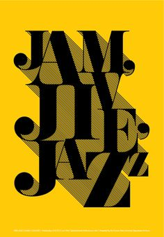 Using the power of contrast yellow and black. Jazz by Kathryn Sutton